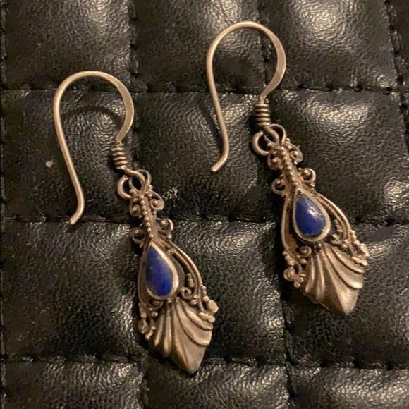 Sundance Sterling Silver Lapis Stone Earrings